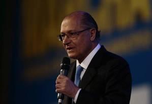Pré-candidato tucano è Presidência, Geraldo Alckmin Foto: Agência O Globo / Jorge Willian