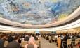 Abertura da 38ª sessão do Conselho de Direitos Humanos da ONU em Genebra Foto: ALAIN GROSCLAUDE / AFP