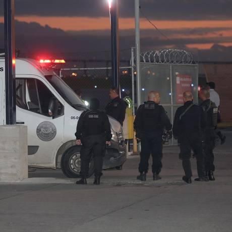 Transferência de Orlando da Curicica ocorreu sob forte esquema de segurança Foto: Marcio Alves 19-06-2018 / Agência O Globo