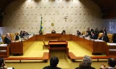 Plenário do Supremo Tribunal Federal durante sessão Foto: Ailton de Freitas/Agência O Globo/06-06-2018