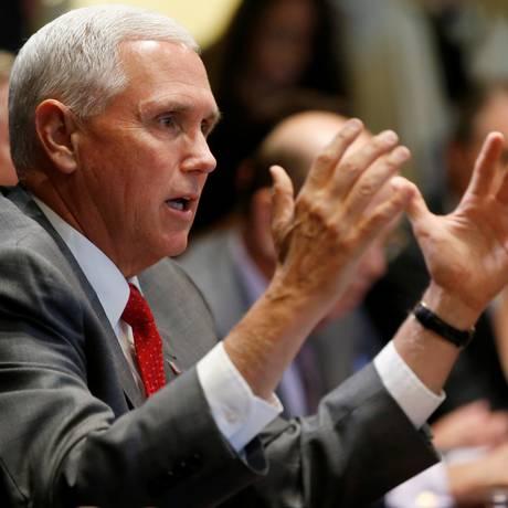 O vice presidente americano Mike Pence Foto: Leah Millis - 20/06/2018 / REUTERS