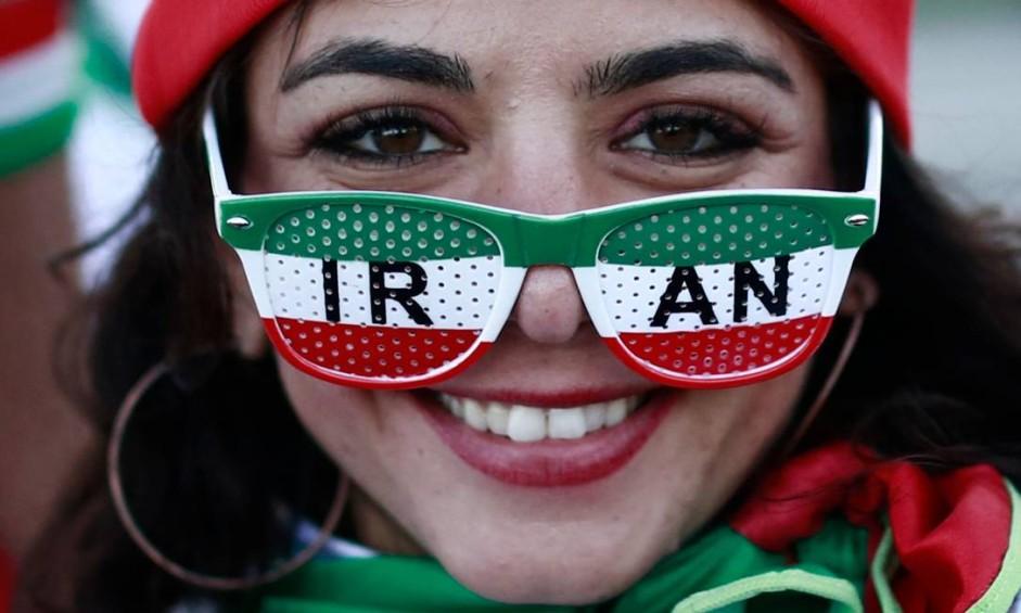 Torcida iraniana na Copa da Rússia Foto: BENJAMIN CREMEL / AFP