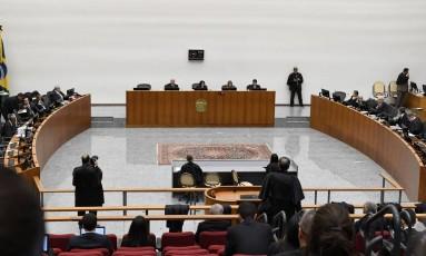 Sessão da Corte Especial do STJ Foto: JOSE ALBERTO / José Alberto/STJ/01-02-2018