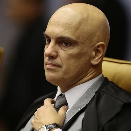 O ministro Alexandre de Moraes, durante sessão do STF Foto: Jorge William / Agência O Globo