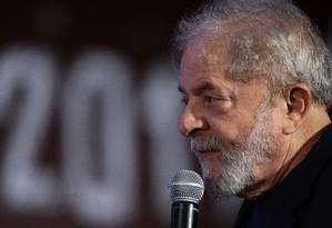 Lula participa do congresso do PCdoB, em Brasília Foto: Jorge William/Agência O Globo/19-11-2017