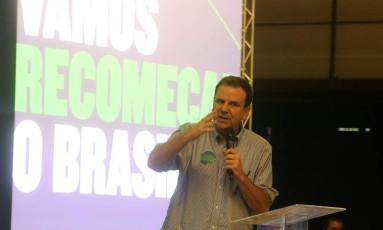 O ex-prefeito do Rio e pré-candidato ao governo do estado Eduardo Paes 09/06/2018 Foto: Guilherme Pinto / Agência O Globo