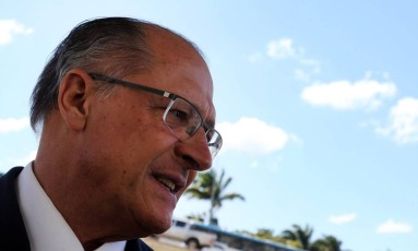 O pré-candidato do PSDB à Presidência da República, Geraldo Alckmin, em Brasília Foto: Givaldo Barbosa / Agência O Globo