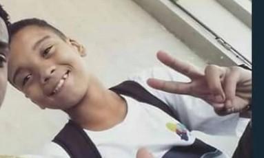 Marcos Vinícius tinha 14 anos Foto: Reprodução