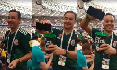 Torcedor mexicano entrou com bebida alcóolica, infrindo as leis russas Foto: Reprodução