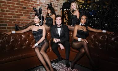 Cooper Hefner, durante festa da Playboy após o Jantar dos Correspondentes, em Washington, em abril Foto: Kate Warren / The Washington Post