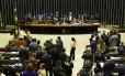 Plenário da Câmara dos Deputados, durante sessão Foto: Ailton de Freitas/Agência O Globo/20-06-2018