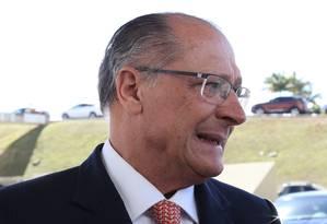 O pré-candidato à Presidência, Geraldo Alckmin, em Brasília Foto: Givaldo Barbosa - 20/06/2018 / Agência O Globo