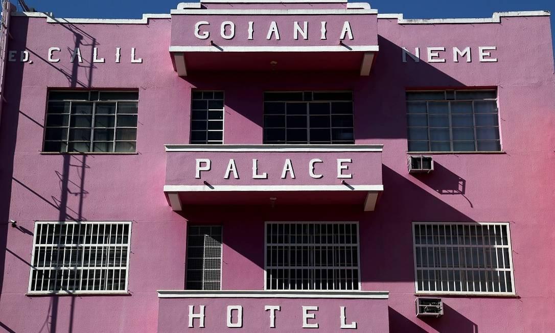 O Goiânia Palace Hotel é um dos símbolos do conjunto arquitetônico art déco da capital de Goiás Foto: Custódio Coimbra / Agência O Globo