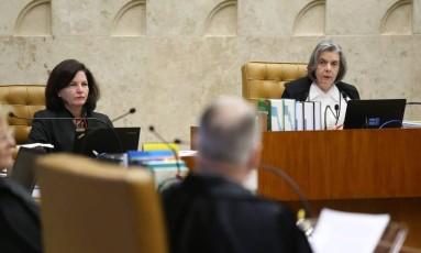 A presidente do Supremo Tribunal Federal (STF), ministra Cármen Lúcia, durante sessão Foto: Ailton de Freitas / Agência O Globo