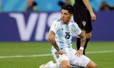 Enzo Perez desperdiçou uma das melhores chances da Argentina na Copa do Mundo. Foto: IVAN ALVARADO / REUTERS