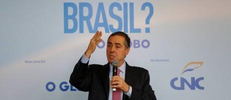 O alto custo das eleições foi uma das dificuldades apontadas pelo magistrado para a renovação política no país Foto: Marcelo de Jesus