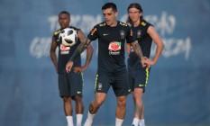 O lateral-direito Fagner durante treinamento da seleção brasileira na Rússia Foto: Pedro Martins/Mowa Press/Divulgação/18.06.2018