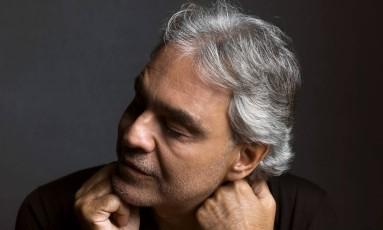 Cantor lírico Andrea Bocelli Foto: Mark Seliger / Divulgação