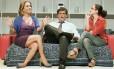 Em ação. Cissa Guimarães, Giuseppe Oristânio e Josie Antello: plateia se reconhece nas cenas do espetáculo