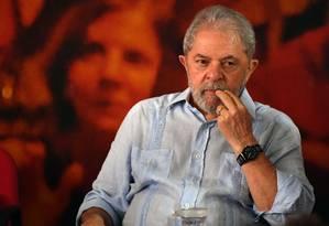 O ex-presidente Lula participa de evento na sede da CUT, em São Paulo Foto: Nelson Almeida/AFP/25-01-2018