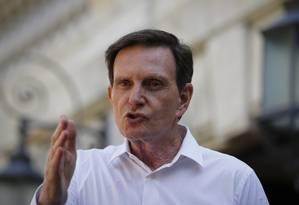 O prefeito da cidade do Rio de Janeiro, Marcelo Crivella Foto: Pablo Jacob / Agência O Globo