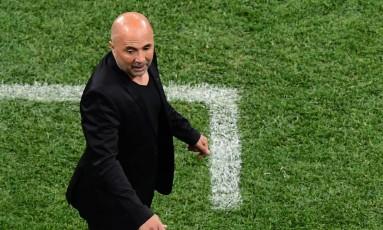 "Sampaoli chamou de ""fracasso"" o seu projeto na Copa do Mundo Foto: MARTIN BERNETTI / AFP"