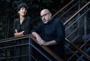Amanda Abi Khalil e Ahmad Ghossein no Instituto Inclusartiz, no Jardim Botânico Foto: Leo Martins / Agência O Globo