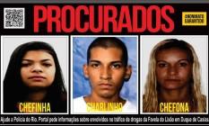Mãe, filho e nora são procurados pela polícia Foto: Reprodução / Disque Denúncia