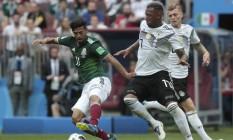 A seleção mexicana, que venceu a Alemanha por 1 a 0 em sua estreia no Mundial, enfrenta nesta sábado a Coreia do Sul Foto: Marcelo Theobald / Agência O Globo