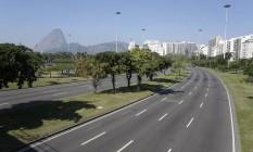 Ruas movimentadas do Rio ficaram desertas durante o jogo da seleção contra a Costa Rica nesta sexta-feira Foto: Pablo Jacob / Agência O Globo