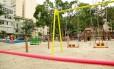 No chamado Espaço Brincar, nove brinquedos vão divertir e estimular o desenvolvimento motor, cognitivo e social da garotada Foto: Brenno Carvalho / Agência O Globo