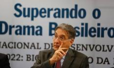 O governador de Minas Gerais, Fernando Pimentel, participa de evento no BNDES Foto: Pablo Jacob/Agência O Globo/17-05-2016