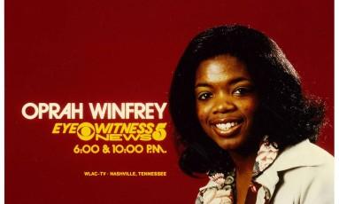 Anúncio do programa de Oprah Winfrey em Nashville, nos anos 1970 Foto: NEWSCHANNEL 5, NASHVILLE / NYT