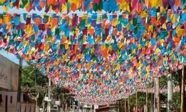 Bandeirinhas enfeitam para festejos juninos Foto: Divulgação