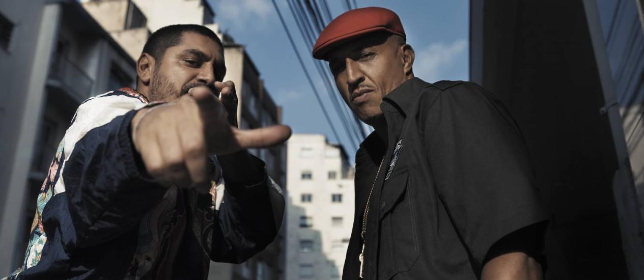 Criolo e Mano Brown: duas gerações do rap na Fundição Foto: ronccally / Divulgação?Gil Inoue