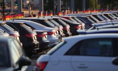 Carros da montadora alemã Audi Foto: Krisztian Bocsi / Bloomberg News