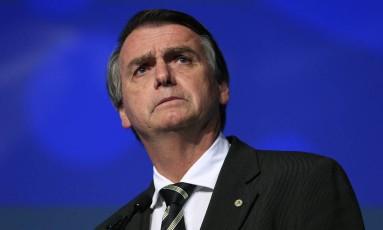 Jair Bolsonaro participa de evento com presidenciáveis em São Paulo Foto: Edilson Dantas/Agência O Globo/18-06-2018