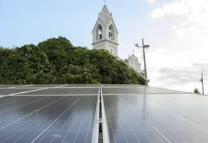 Investimento em placas fotovoltaicas foi de R$ 96 mil: objetivo era eliminar gastos Foto: Fabio Cordeiro
