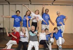 Grupos para idosos têm teatro, dança e canto Foto: Fabio Cordeiro / Agência O Globo