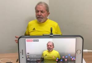 O ex-presidente Lula está preso desde abril na sede da PF de Curitiba Foto: Divulgação