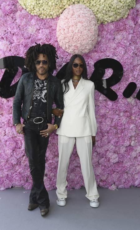 Lenny Kravitz e Naomi Campbell Foto: Pascal Le Segretain / Getty Images
