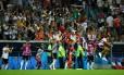 A festa alemã no banco de reservas com a virada no fim Foto: DYLAN MARTINEZ / REUTERS
