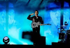 Muse fechou a primeira noite do Rock In Rio Lisboa 2018 Foto: Denis Cunha / Agência O Globo