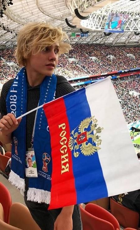 Lucas na Copa do Mundo da Rússia Foto: Reprodução/ Instargarm