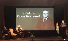 Dom Bertrand de Orleans e Bragança discursa em evento em Brasília Foto: Leticia Fernandes/Agência O Globo