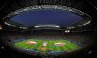 A Arena Kazan, momentos antes da partida entre Polônia e Colômbia, neste domingo Foto: JORGE SILVA / REUTERS