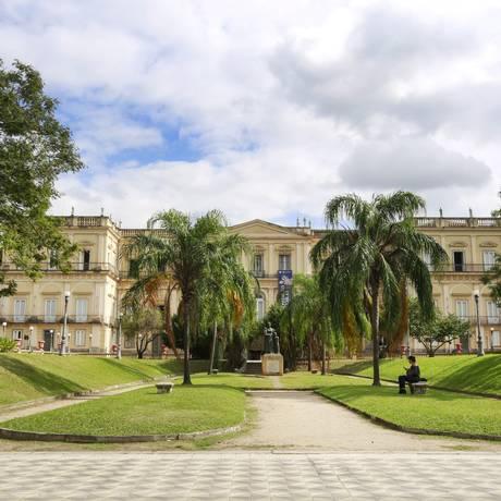 Museu Nacional, localizado na Quinta da Boa Vista Foto: Marcos Ramos / Agência O Globo