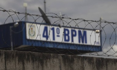 41º Batalhão da PM, em Irajá Foto: Márcia Foletto / Agência O Globo