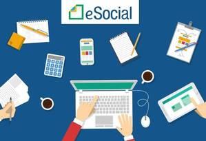 O eSocial vai simplificar a prestação de informações trabalhistas ao governo federal Foto: Foto: Reprodução
