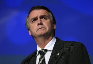 Jair Bolsonaro no UNICA Fórum 2018 Foto: Edilson Dantas - 18/06/2018 / Agência O Globo